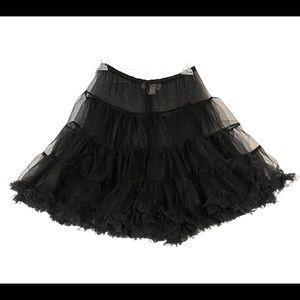 Chasing Fireflies Girl's Size 12-16 Black Tutu Petticoat Under Skirt Crinoline